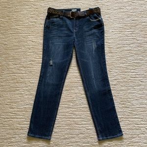 Cato Low Rise Distressed Skinny Jean